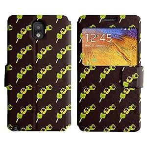 LEOCASE feliz barbacoa Funda Carcasa Cuero Tapa Case Para Samsung Galaxy Note 3 N9000 No.1004149