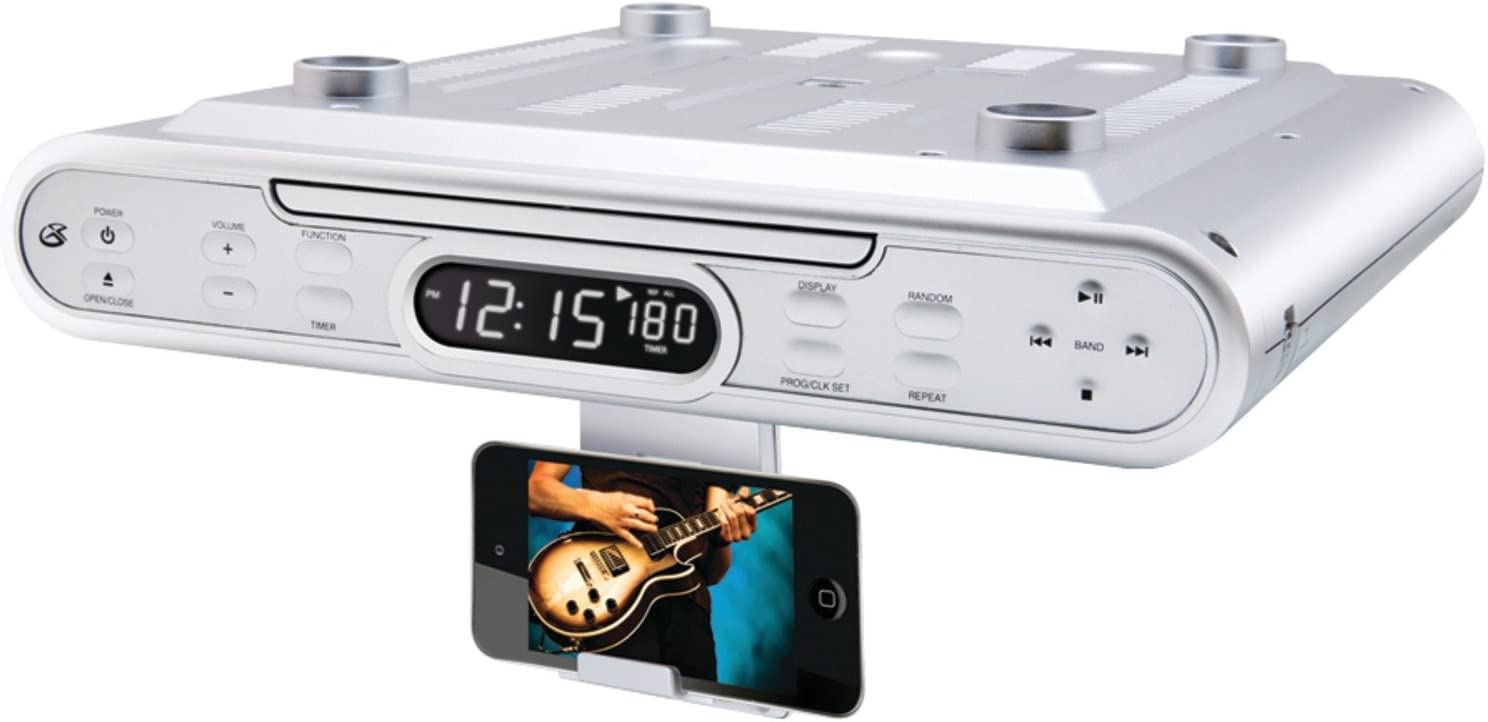 Amazon Com Gpx Kc232s Under Cabinet Cd Player With Am Fm Radio Silver Home Audio Theater
