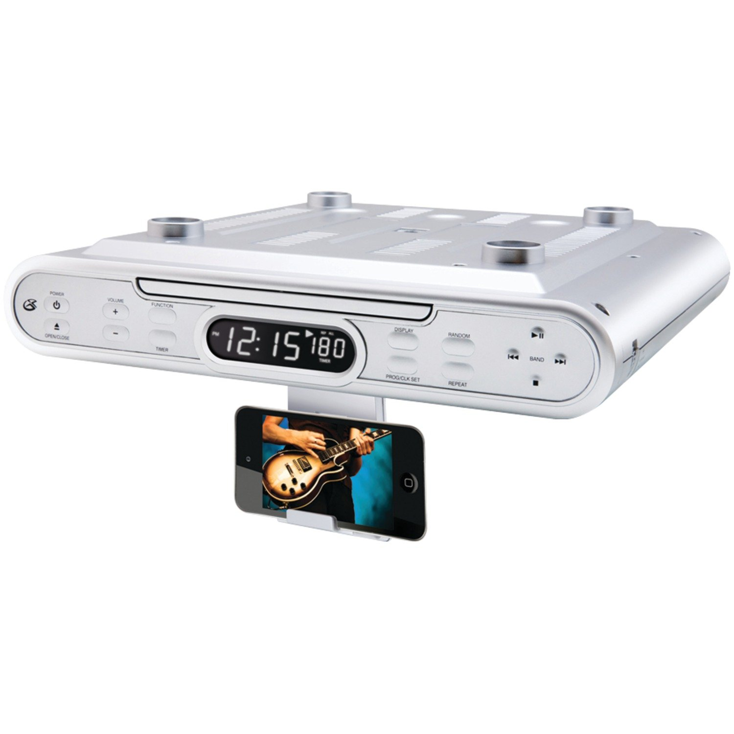 Kitchen Stereo Under Cabinet Amazoncom Gpx Kc232s Under Cabinet Cd Player With Am Fm Radio