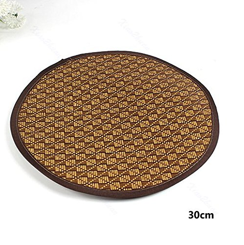 GohEunGyung shop 【30CM】New Cool Summer Round Comfortable Bamboo Mat Pet Cat Dog Straw Tatami Specially