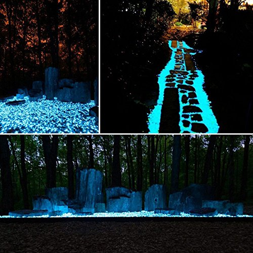 Raytheon-Toys-Glow-In-The-Dark-Blue-Stones-100pcs-Non-Toxic-Resin-Pebbles-Luminous-Gravel-Small-Size-For-Home-Decor-Arts-Crafts-Walkways-Garden-Plants-Aquarium-Driveways-Paths-More