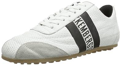 Bikkembergs 640979 - Zapatillas de cuero para unisex-adultos, color blanco/ negro, talla 36: Amazon.es: Zapatos y complementos