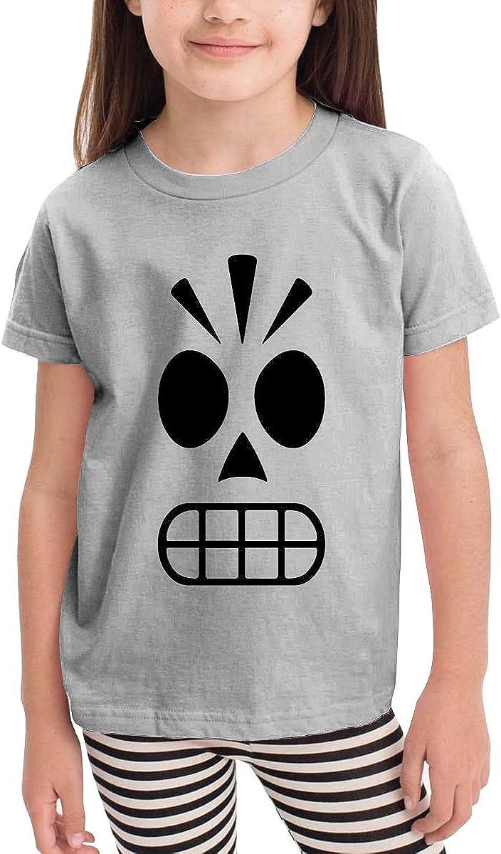 Toddler Boys Girls Kids Funny Graphic Grim Fandango Manny Calavera White T Shirt Cotton Tee Summer Tops