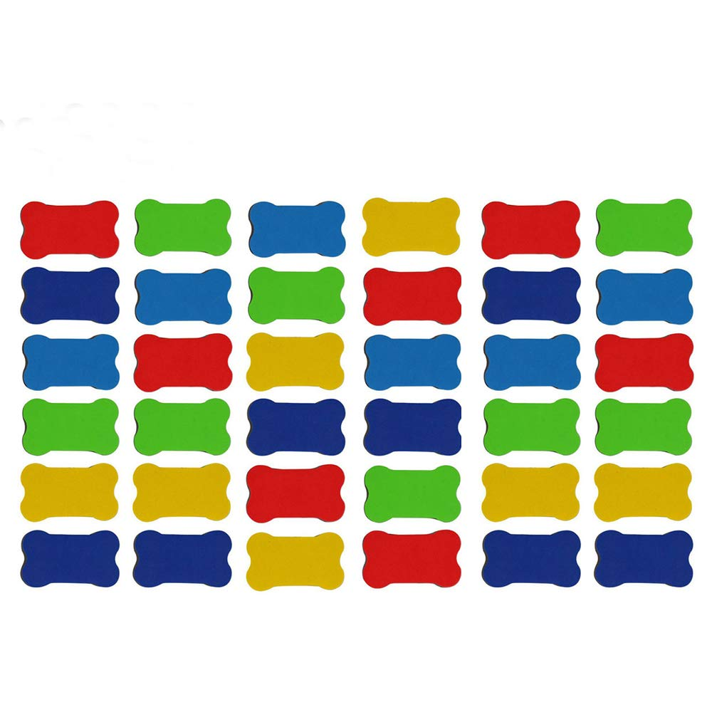 Calary Small Whiteboard Dry Erasers Magnetic Whiteboard Eraser for Dry Erase Pens, Home, Office, School Classroom Teacher Random Color (24 Pack & 36 Pack)