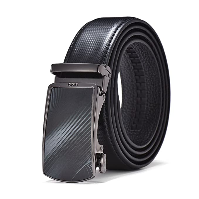 Weillcce Cinturones de hombre Cinturón de negocios Cinturones de 100% piel Cinturón de hebilla automático Para la mayoría… JCNxaa7I