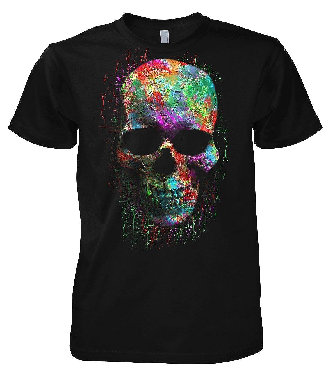 Chameleon Clothing Geek Colour Skull 702214 T-Shirt