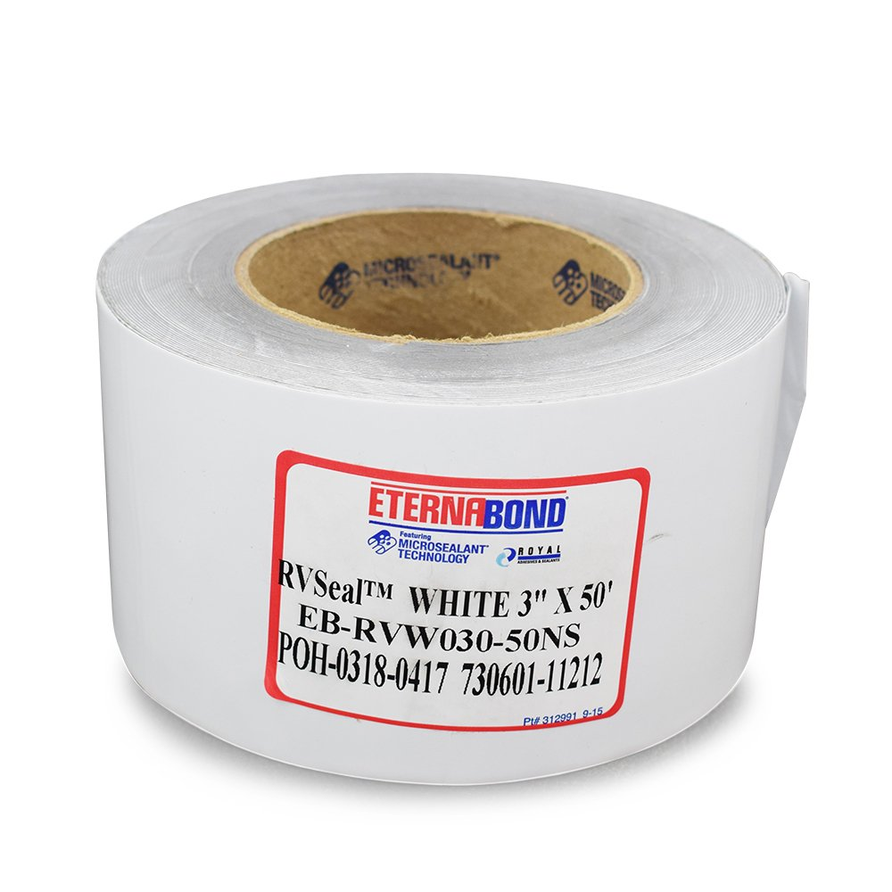 "EternaBond RV Mobile Home Roof Seal Sealant Tape & Leak Repair Tape 3"" x 50' Roll White Authentic (3''-50ft)"
