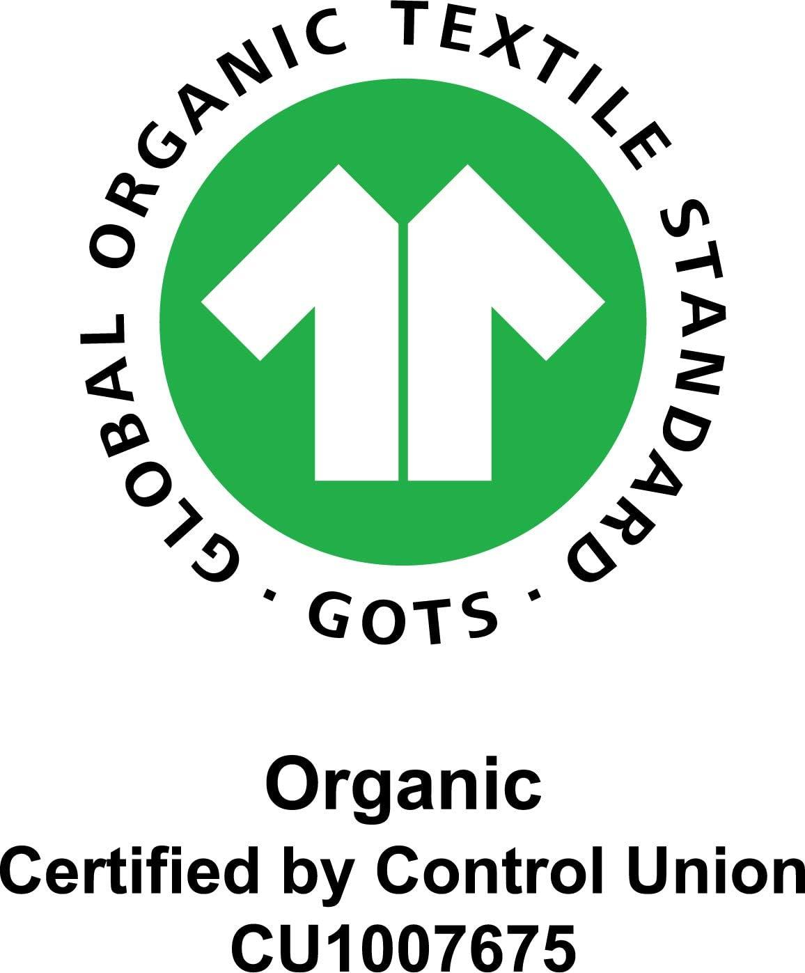 Manta para beb/é con Certificado Gots de algod/ón org/ánico Manchas Albaricoque y Negro Manta para Envolver al beb/é de Motherhood