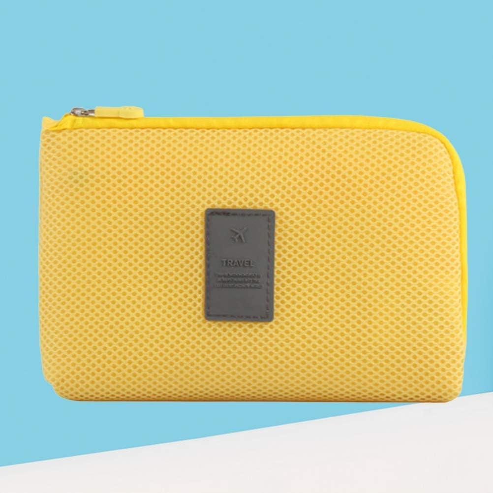 Tama/ño Amarillo S TENDYCOCO Bolso de Almacenamiento del Cargador del Cable de Datos Digitales Bolso cosm/ético Monedero Monedero para Viaje