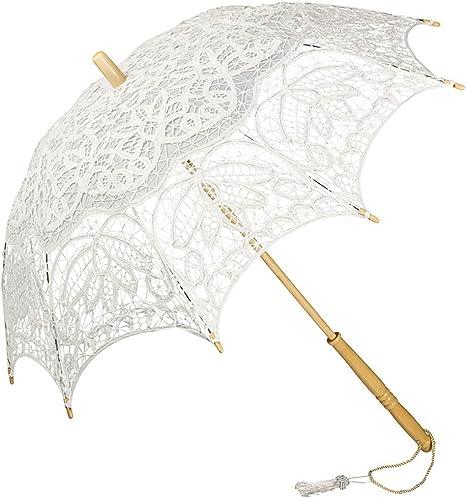 VON LILIENFELD/® Ombrelle Dentelle Mari/ée Femme Parasol Vivienne blanc