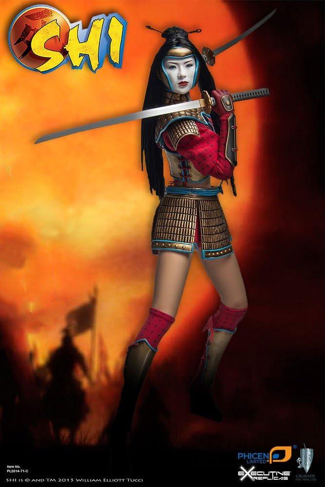 NEW PHICEN Seamless Body Japanese Female Samurai SHI in Battle Armor 1//6 Figure
