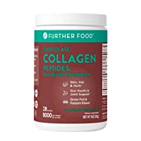 Collagen Peptide Powder, Dark Chocolate Collagen Flavored with Cacao, Grass-Fed Pasture-Raised Hydrolyzed Type 1 & 3 Protein, Gut Health + Joint, Hair, Skin, Nails, Paleo Keto Sugar-Free (28 Servings)