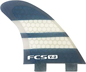 FCS V-2 Performance Core Surfboard Tri-Quad Fin Set