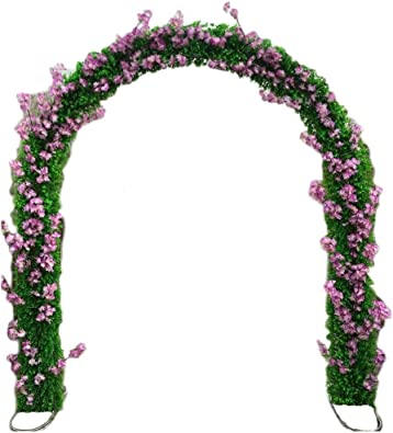 SUNNAIYUAN Rose Arco del jardín Planta trepadora pérgola de 240 cm ...