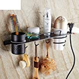 Hair Dryer Holder,Hair Dryer Shelf,Hair Blow Dryer Holder, Wall Hanging Hair Rack Hair Dryer Rack Bathroom Racks Wall-mounted Storage Cartridge-A