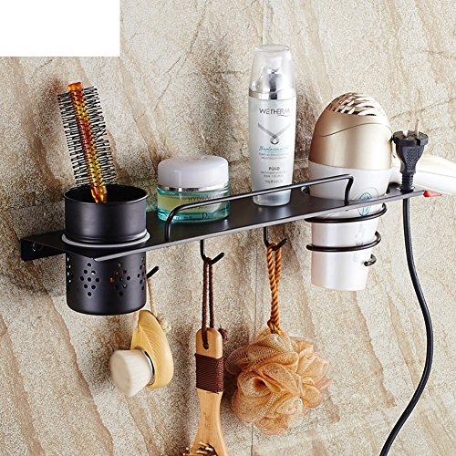 Hair Dryer Holder,Hair Dryer Shelf,Hair Blow Dryer Holder, Wall Hanging Hair Rack Hair Dryer Rack Bathroom Racks Wall-mounted Storage Cartridge-A