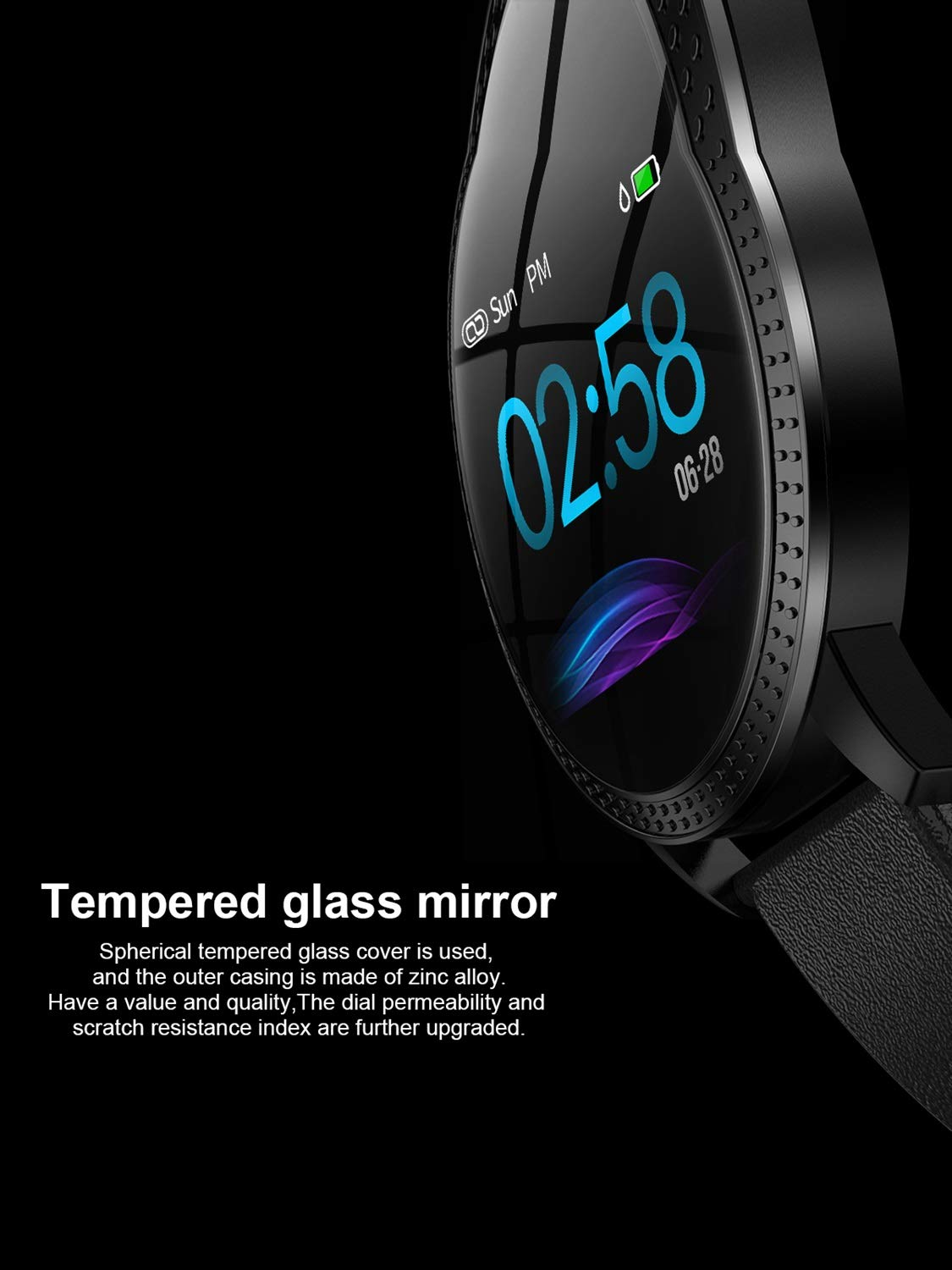 AFITNESS Smart Bracelet Color Screen Multi-sports Mode Fitness Tracker For Men And Women Android IOS System Compatible Heart Rate//Blood Pressure//Blood Oxygen//Sleep Health Detection