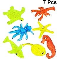 STOBOK 7 unids Mini Juguetes de Animales pegajosos Wacky Funny Stretchy Sticky Toys Ocean Sea Animal Figura Squeeze Juguetes Niños Fiesta de cumpleaños Favors Tipo Aleatorio