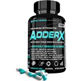 Focus Booster by Life's Armour Adder X | All Natural Nootropic Focus Booster Supplement to Help support mental focus, clarity, alertness, mood, memory, thinking, & cerebral blood flow