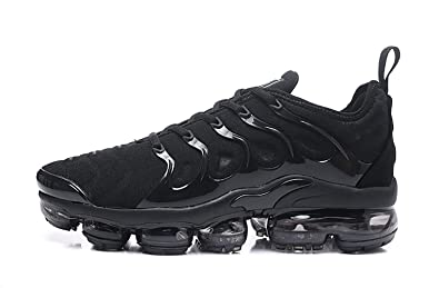 9b5a42a365 RUNSHOT Men's Air Vapormax Plus TN Running Shoe Basketball Shoes -Full Black  (7M US