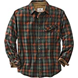Legendary Whitetails Men's Big & Tall Buck Camp Flannel Shirt, Redwood Plaid, 4X-Large Tall (Color: Redwood Plaid, Tamaño: 4X-Large Big Tall)