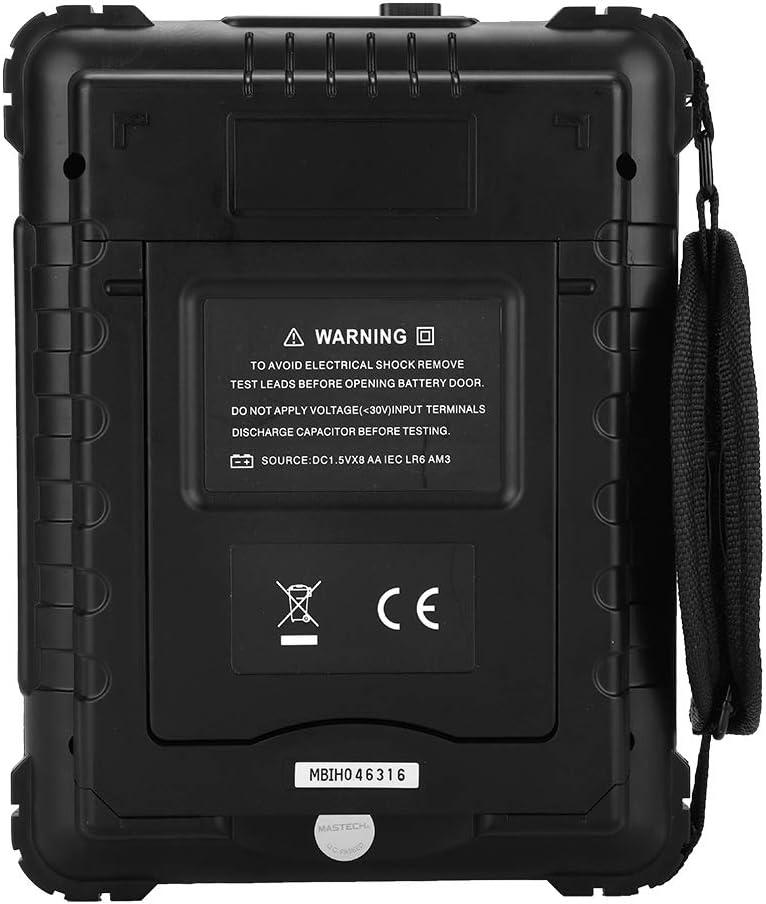 Akozon MASTECH Medidor LCR Port/átil Rango Autom/ático 100 KHz Medidor de Capacitancia de Resistencia de Inductancia