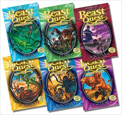 Book Beast Quest Series 2 Collection - 6 Books RRP £29.94 (7. Zepha the Monster Squid; 8. Claw the Giant Monkey; 9. Soltra the Stone Charmer; 10. Vipero the Snake Man; 11. Arachnid the King of Spiders; 12. Trillion the Three-Headed Lion)