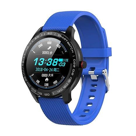 Amazon.com: L9 reloj inteligente para hombre ECG+PPG ...