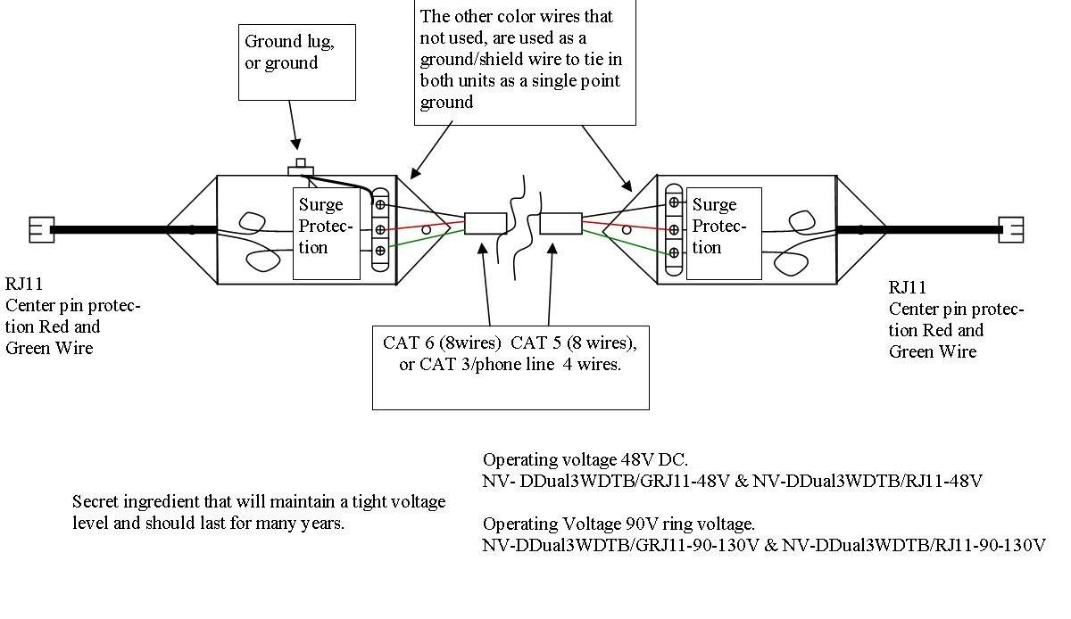 Netsys Nv Ddual3wdtb G48v Computers Accessories Dsl Rj11 6 Pin Wiring Diagram
