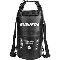 NUEVERA Waterproof Dry Bag Backpack 5L/10L/20L Roll Top Sack Keeps Gear Dry for Kayaking, Rafting, Boating, Swimming, Camping, Hiking, Beach, Fishing