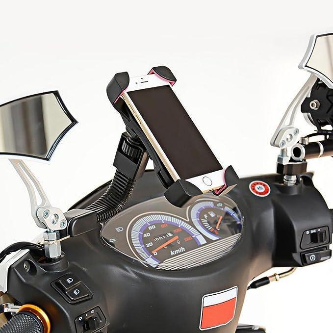 support de guidon de moto pour t/él/éphone portable smartphone Amosch Support universel pour t/él/éphone portable de moto avec rotation /à 360 /° pour v/élo de plein air 16-29 mm