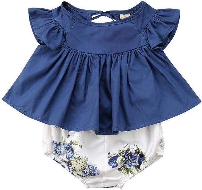 ASHOP Vestidos niña/ Camiseta Floral Vestido Tops + Pantalones ...