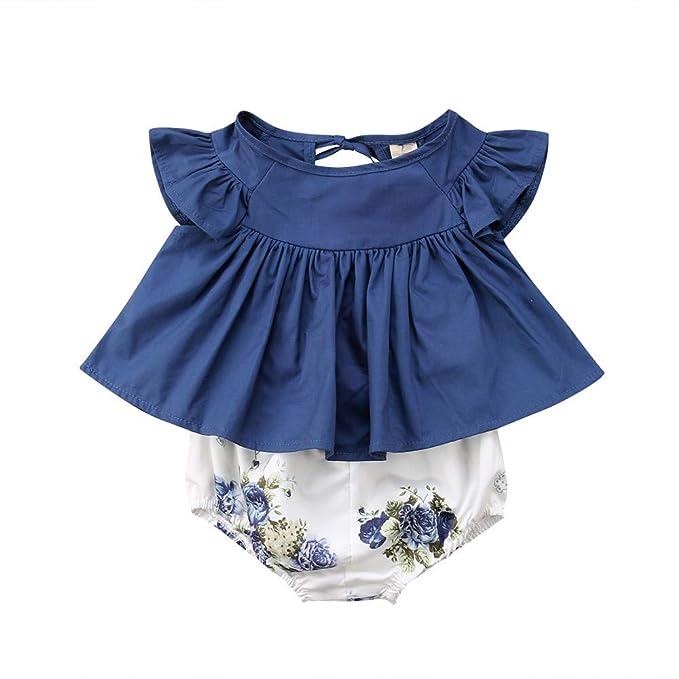 4c075c38d Amazon.com  0-24M 2PCS Toddler Infants Baby Girls Floral Print ...