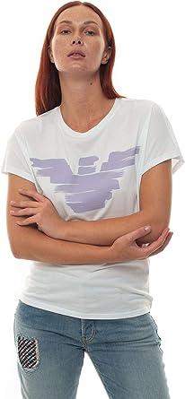 Emporio Armani - Camiseta blanca de algodón para mujer Bianco 42 ...