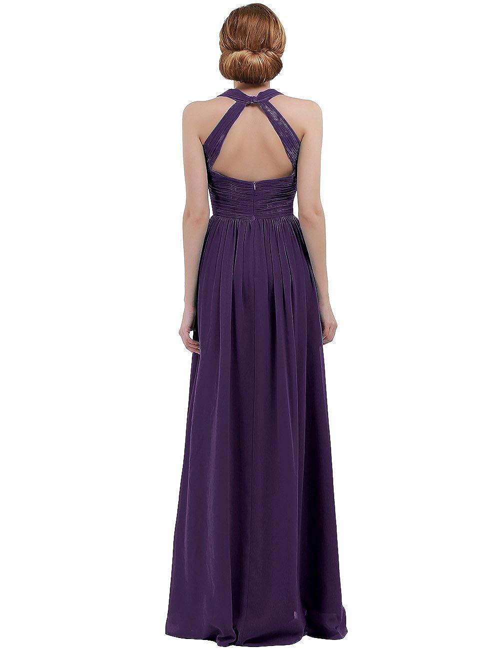 iEFiEL Damen Elegant Sommer Kleid Festliches Abendkleid V-Ausschnitt ...