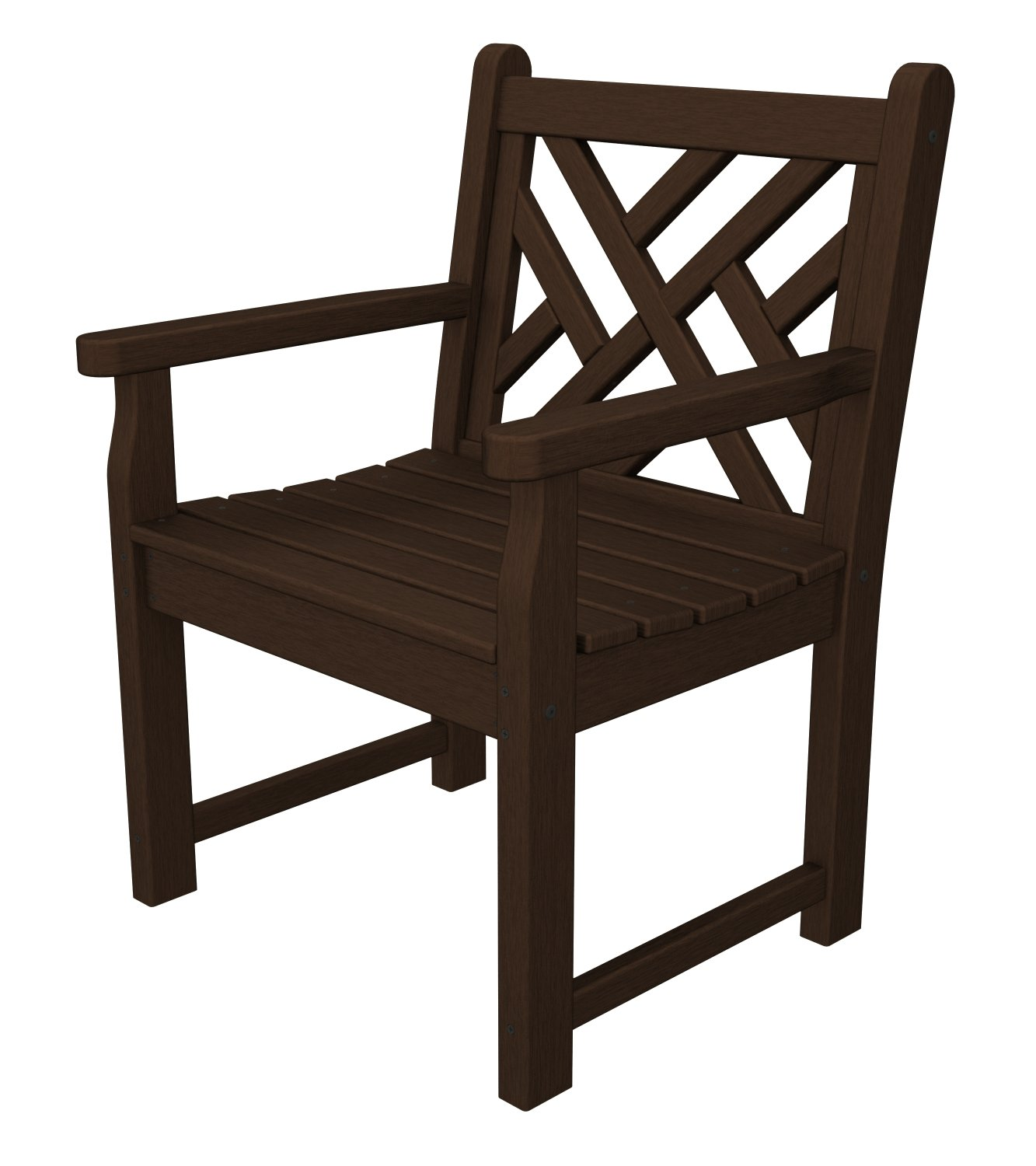 Chippendale arm chair - Amazon Com Polywood Cdb24wh Chippendale Garden Arm Chair White Outdoor Benches Patio Lawn Garden