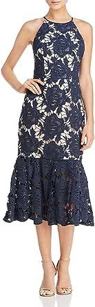 Keepsake the Label Womens 34171103 Easy Love Sleeveless Lace Contrast Midi Dress Sleeveless Dress - Blue