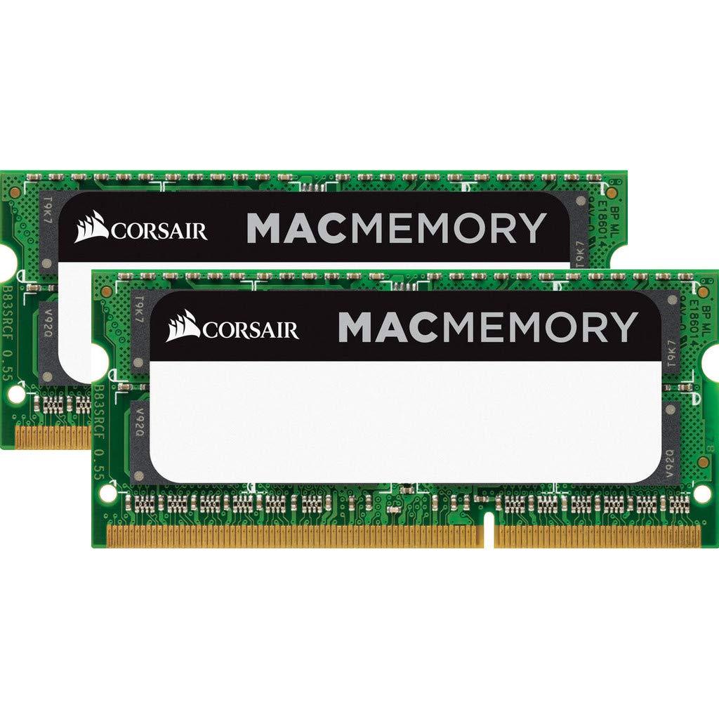 Corsair Apple Certified 16GB (2 x 8GB) DDR3 1333 MHz (PC3 10600) Laptop Memory for Mac Model CMSA16GX3M2A1333C9 by Corsair