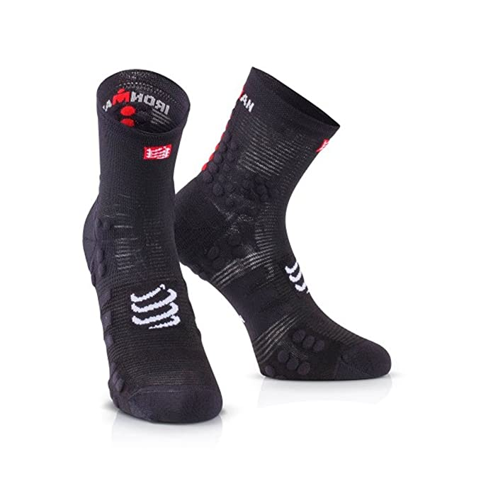 Calcetines Compressport V3.0 Ironman 2017 T3 Smart Black: Amazon.es: Deportes y aire libre