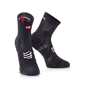 Calcetines Compressport V3.0 Ironman 2017 T2 Smart Black: Amazon.es: Deportes y aire libre