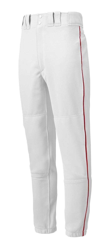 (ミズノ) Mizunoメンズベースボールパンツ パイピング入り 大人用 B000IOLFTS XL|ホワイト/レッド ホワイト/レッド XL