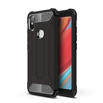 AOBOK Funda Xiaomi Redmi S2, Negro Moda Armadura Híbrida Carcasa ...