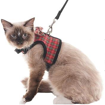 SCIROKKO Schrokko - Arnés para Gato a Prueba de Escape, arneses Ajustables para Chaleco: Amazon.es: Productos para mascotas