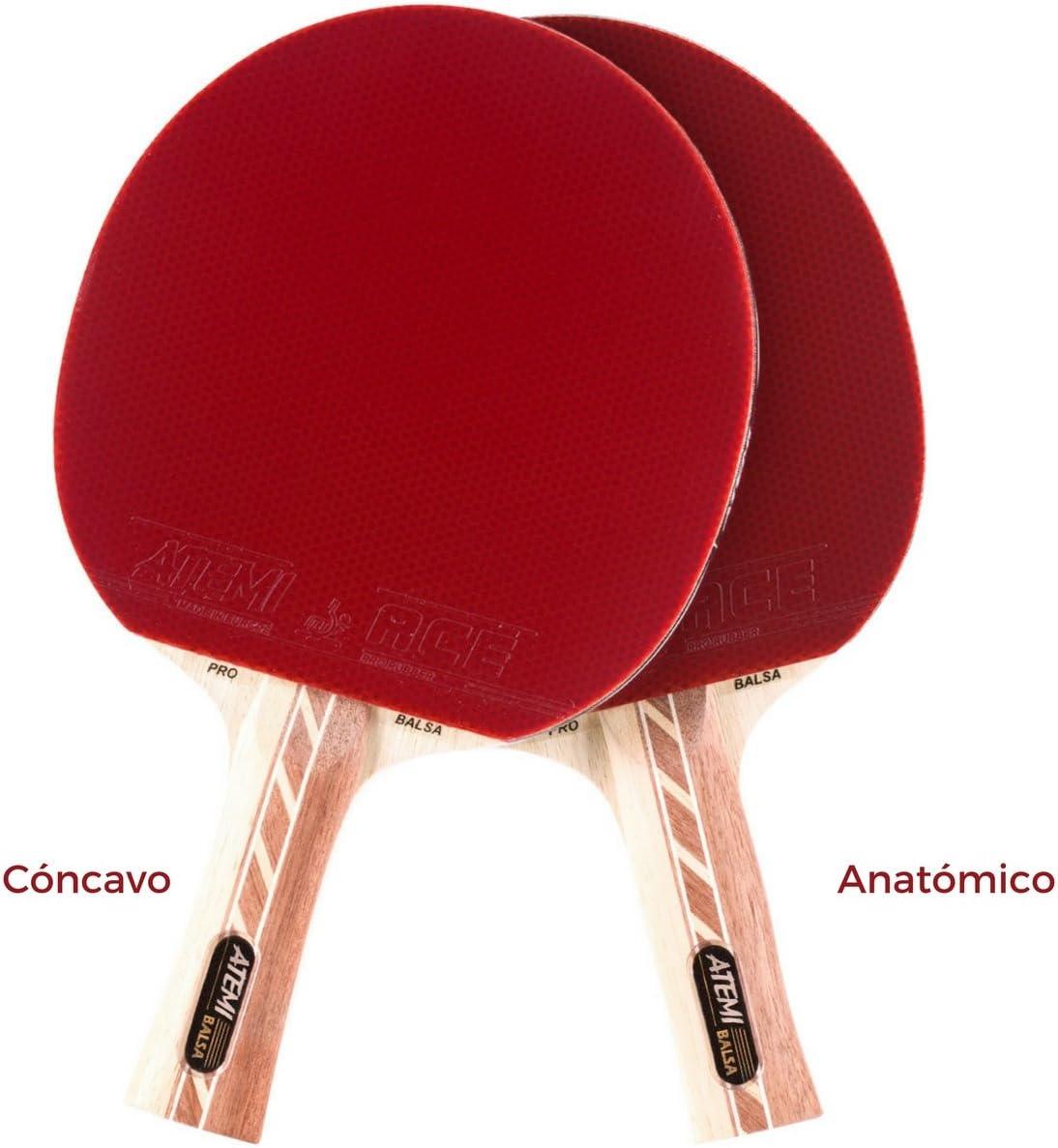 Atemi Pala de Ping Pong 4000 Principiante y Profesional Madera de Balsa Caucho de Competenci/ón Control Velocidad Rotaci/ón Mejorados Raqueta de Tenis de Mesa Pro Ataque Off+ Madera de 5 Capas