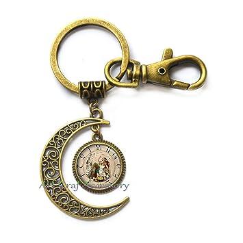 Steampunk - Llavero de luna steampunkkey, llavero de reloj ...