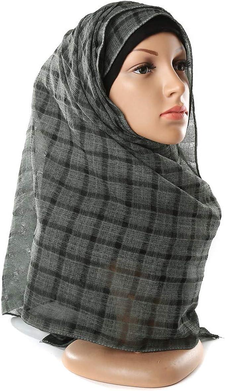 Fashion Women chiffon rib scarf long shawl hijab wedding cover up Charcoal grey
