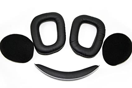3b020ae1ff2 Image Unavailable. Image not available for. Color: G930 Headset Replacement  Earpads + Headband Compatible with Logitech Wireless Gaming ...