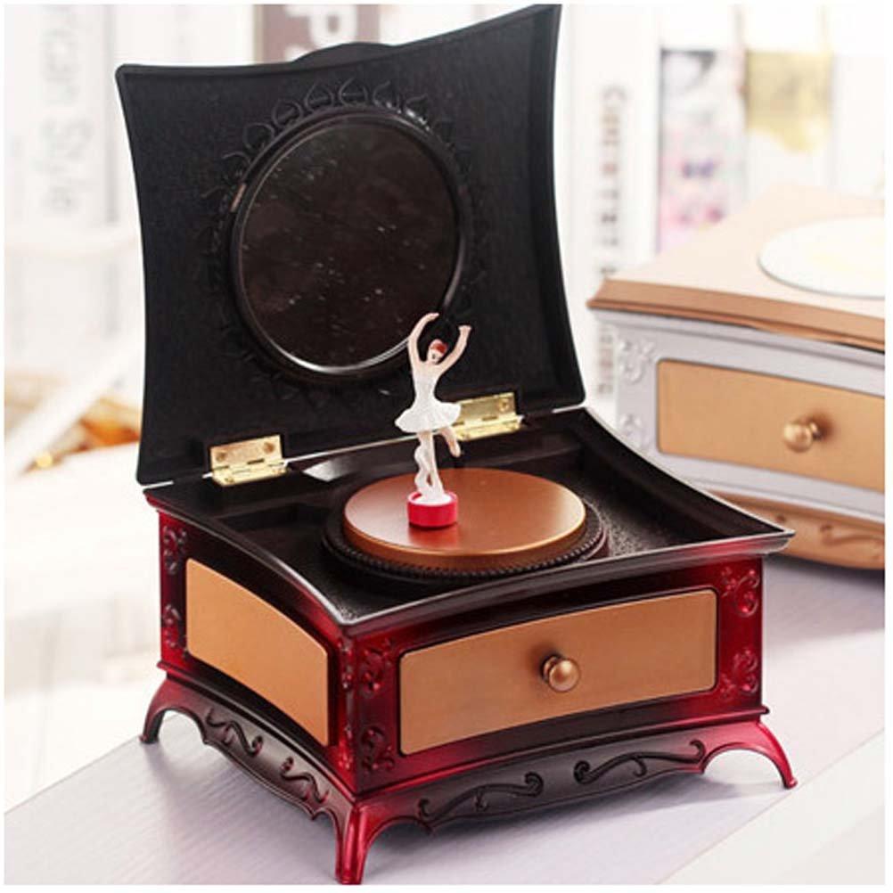 独創的 wshine音楽ジュエリーボックスwith イエロー Pullout引き出し、バレリーナTreasure音楽ボックス レッド イエロー B01MRI3528 レッド レッド レッド, 和食器と和雑貨のお店 舞陶館:81f4dd6d --- arcego.dominiotemporario.com