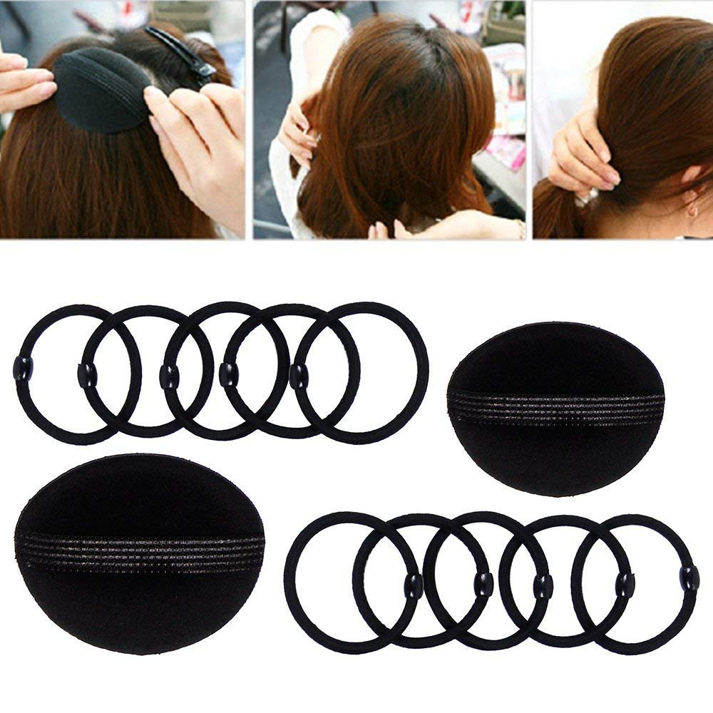 Hair Styling Bun Maker Accessories Set, Accessory for Styling Hair Band Fashion DIY Fast Bun French Braids Ponytails Maker Hair Elastics Modelling Braiding Tool Kit by DELOVE (Image #5)
