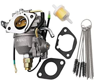 KIPA Carburetor for Kohler CV730 S CV740 S 25 Hp 27 Hp Engine Tractor Mower 24853102-S, with Carbon Dirt Jet Cleaner Tool Kit & Fuel Filter Mounting Gaskets